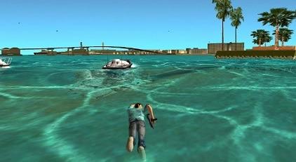 nadar en vice city