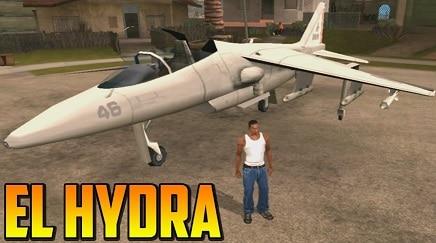 código avion caza hydra san andreas